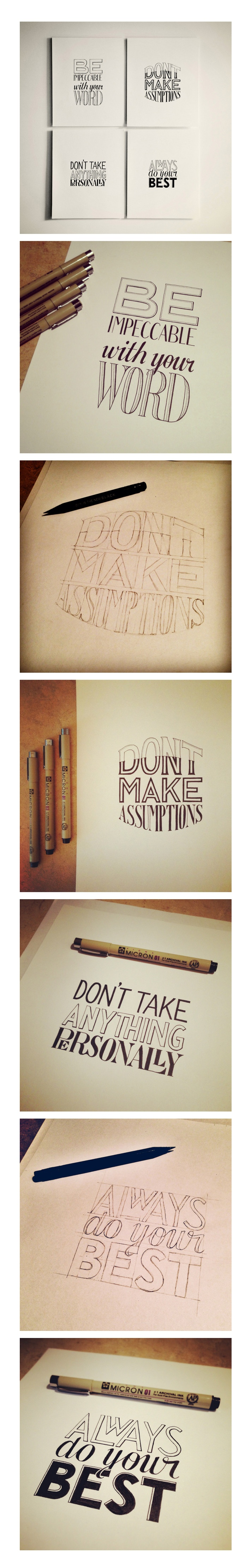 Hand Lettering of Four / AgreementsSean McCabe