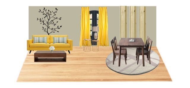 """""""Living room and dining room"""" by girlie-contrast on Polyvore featuring interior, interiors, interior design, home, home decor, interior decorating, Suki Cheema, Hedge House, Surya and Dot & Bo"""