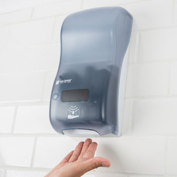 San Jamar Shf900tbl Rely Arctic Blue Hybrid Touchless Foam Soap