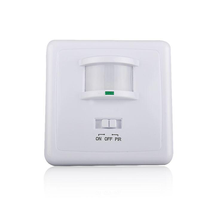 Montado en la pared de movimiento pir sensor de luz de alta calidad MAX 600 w de carga + 9 m distancia máxima (ET031B)