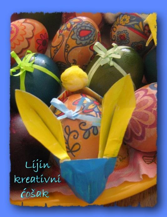 origami bunny basket