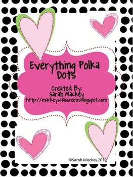 This is great for polka dot lovers.  This packet contains labels for all your classroom needs.  1.  Guided Reading/DRA Levels/Reading Recovery ...: Polka Dots, Dots Lovers