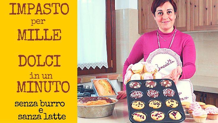 Impasto Base per Plumcake, Ciambellone, Muffins e Cupcakes senza burro n...
