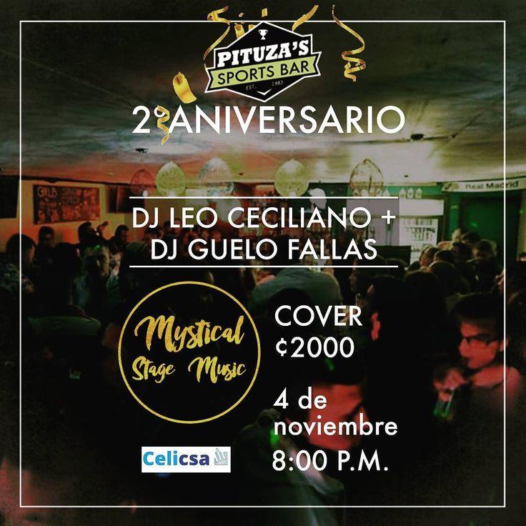 Coordialmente invitados a nuestra fiesta de aniversario.  Una noche con muchas sorpresas buena música mini bar afuera seguridad privada para que la pasen super bien !! Gracias por acompañarnos un año más. . . . #pituzas #reggaelovers  #bar #aniversario #djLeo  #djGuelo #imperial #smirnof #electric #jagermeistercr #reggae #fiesta #abailar #nuestrobarcito #bares #bartender #lasMejoresAlitas