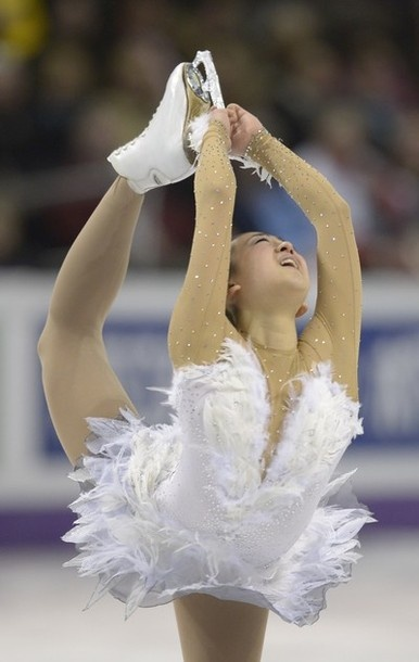 Mao Asada, representing Japan, performs in the Ladies Free Skating event at the 2013 World Figure Skating Championships March 16, 2013 in London, Ontario, Canada.