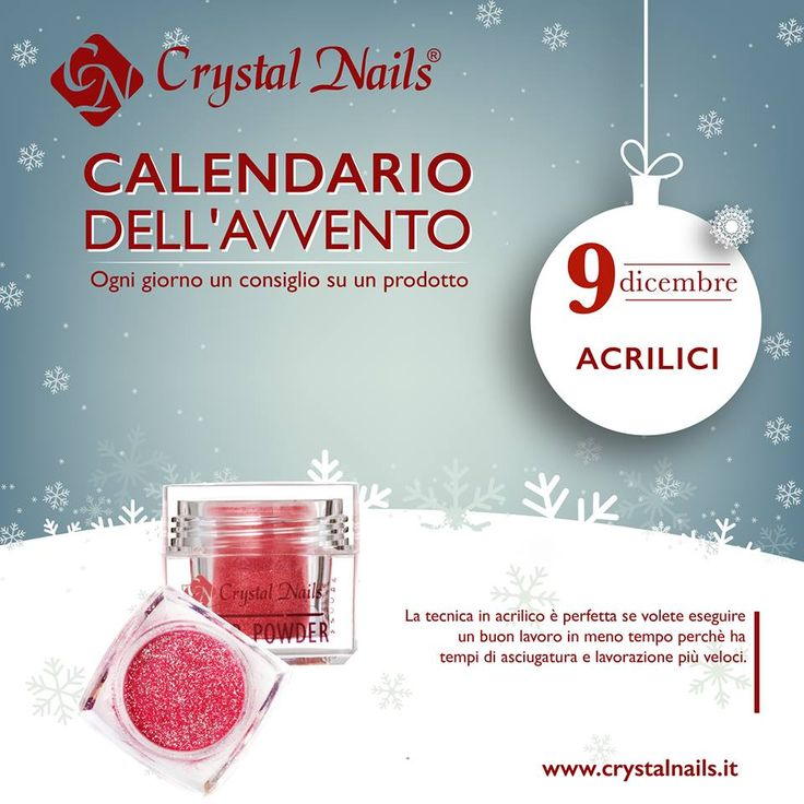 Calendario dell'avvento Crystal Nails - 9 dicembre - #crystalnails #polvereacrilica #acrilici #nails #christmas