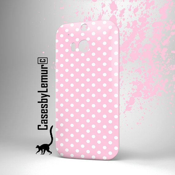 Polka Dot HTC one m8 case HTC one m7 case Htc one X by LemurCases