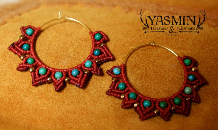micro macrame earrings by yasmin                                                                                                                                                                                 More