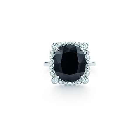 Ziegfeld Collection Black Spinel Ring Boys Antique