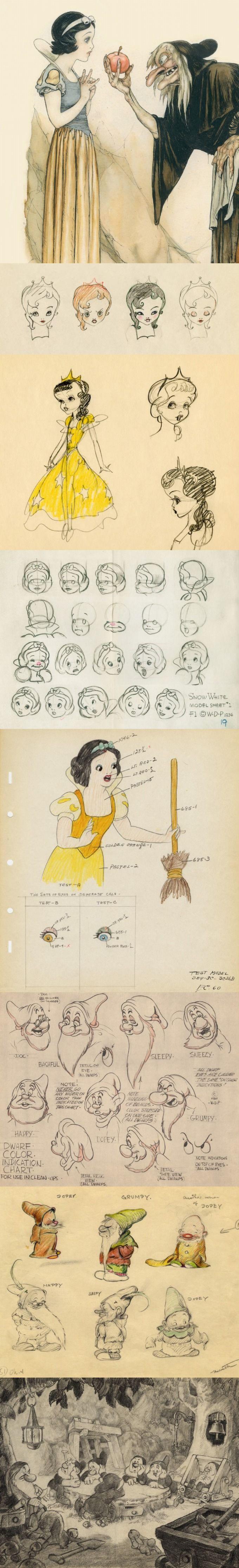 9GAG - The Art of Snow White and the Seven Dwarfs via PinCG.com