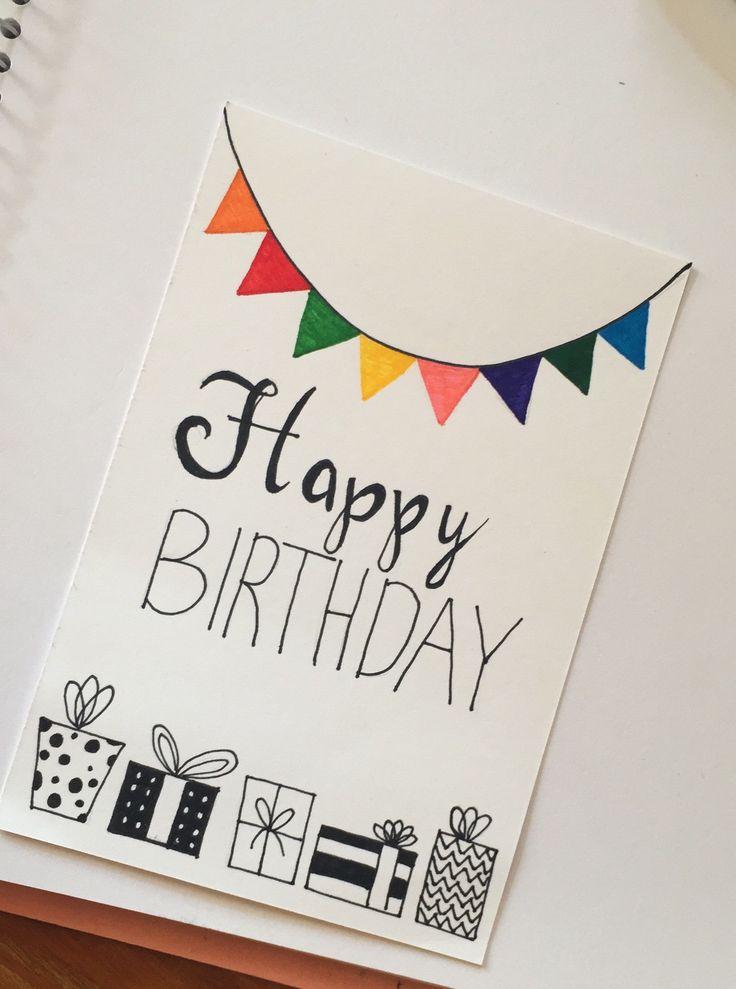 Handmade birthday card ''Happy Birthday''