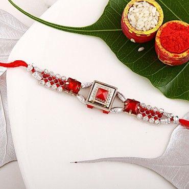Red Pyramid Rakhi rakhi online shopping
