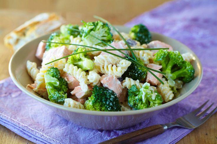 Middagstips og oppskrift på pasta med laks og brokkoli, foto: Synøve Dreyer kilde: TINE