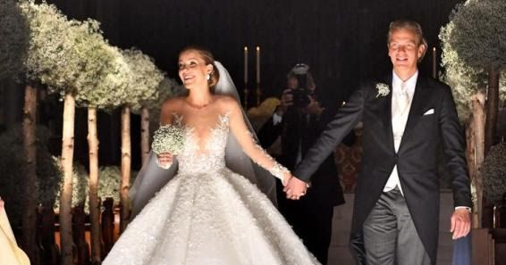 23 year old crystal heiress Victoria Swarovski wore a 46kg wedding dress with 500000 Swarovski stones and an eight-metre veil worth 800000 when she married her property investment boyfriend Werner Mürz over the weekend in the Italian city of Trieste. She also wore diamond-encrusted semi-hoop earrings and a pair of ivory Jimmy Choo heels. Her great great grand father Daniel Swarovski founded the Swarovski company in 1895. See more photos below.. Asides being an heiress Victoria has made a…
