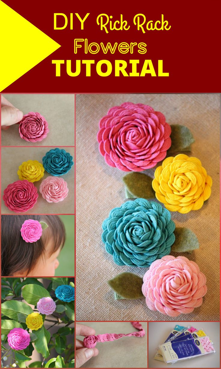 50 Easy Fabric Flowers Tutorial - Make Your Own Fabric Flowers - Page 7 of 10 - DIY & Crafts