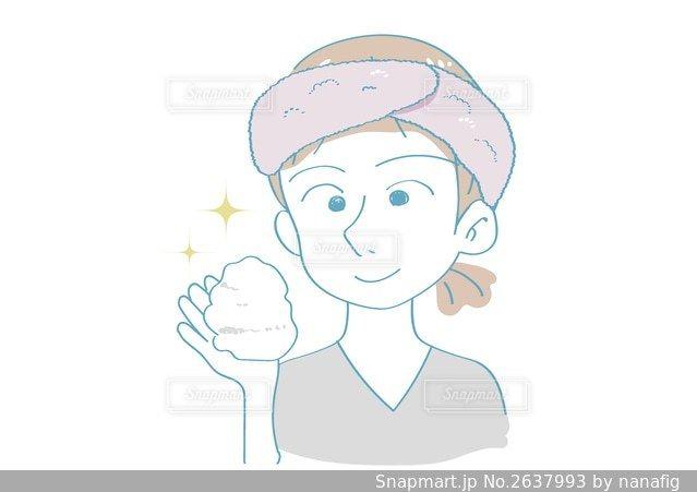 洗顔前の女性の写真 画像素材 2637993 Snapmart スナップマート