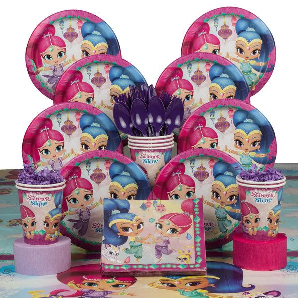 Check out Shimmer and Shine Deluxe Tableware Kit (Serves 8) | Shimmer and Shine Themed Party Supplies from Birthday in a Box from Birthday In A Box