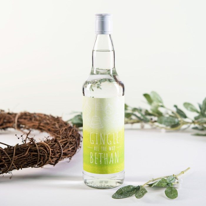 Personalised Gin - Gingle All The Way | GettingPersonal.co.uk