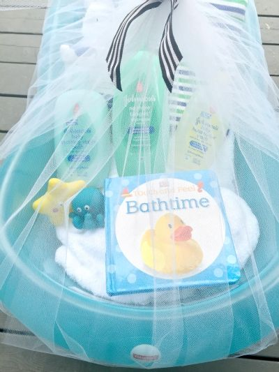 16 best baby shower gift ideas images on pinterest baby bundles how to make a baby bathtub into a baby bundle gift negle Images
