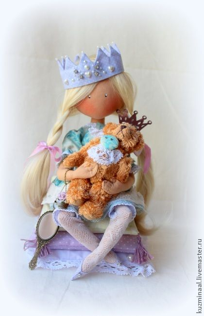 Men handmade.  Fair Masters - Textile handmade doll LITTLE PRINCESS.