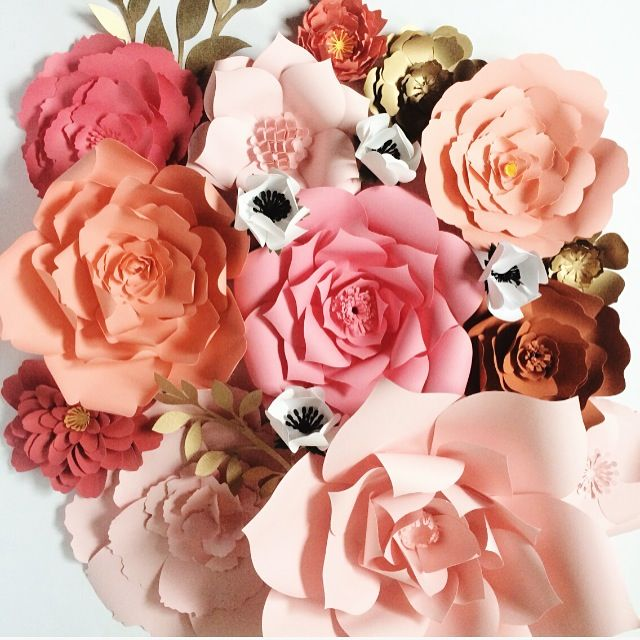 70 best paper flowers images on pinterest diy supplies flower paper flowers for weddings events home decor diy templates and pre cut kits mightylinksfo