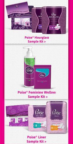 Choose 1 of 3 Poise Sample Kits