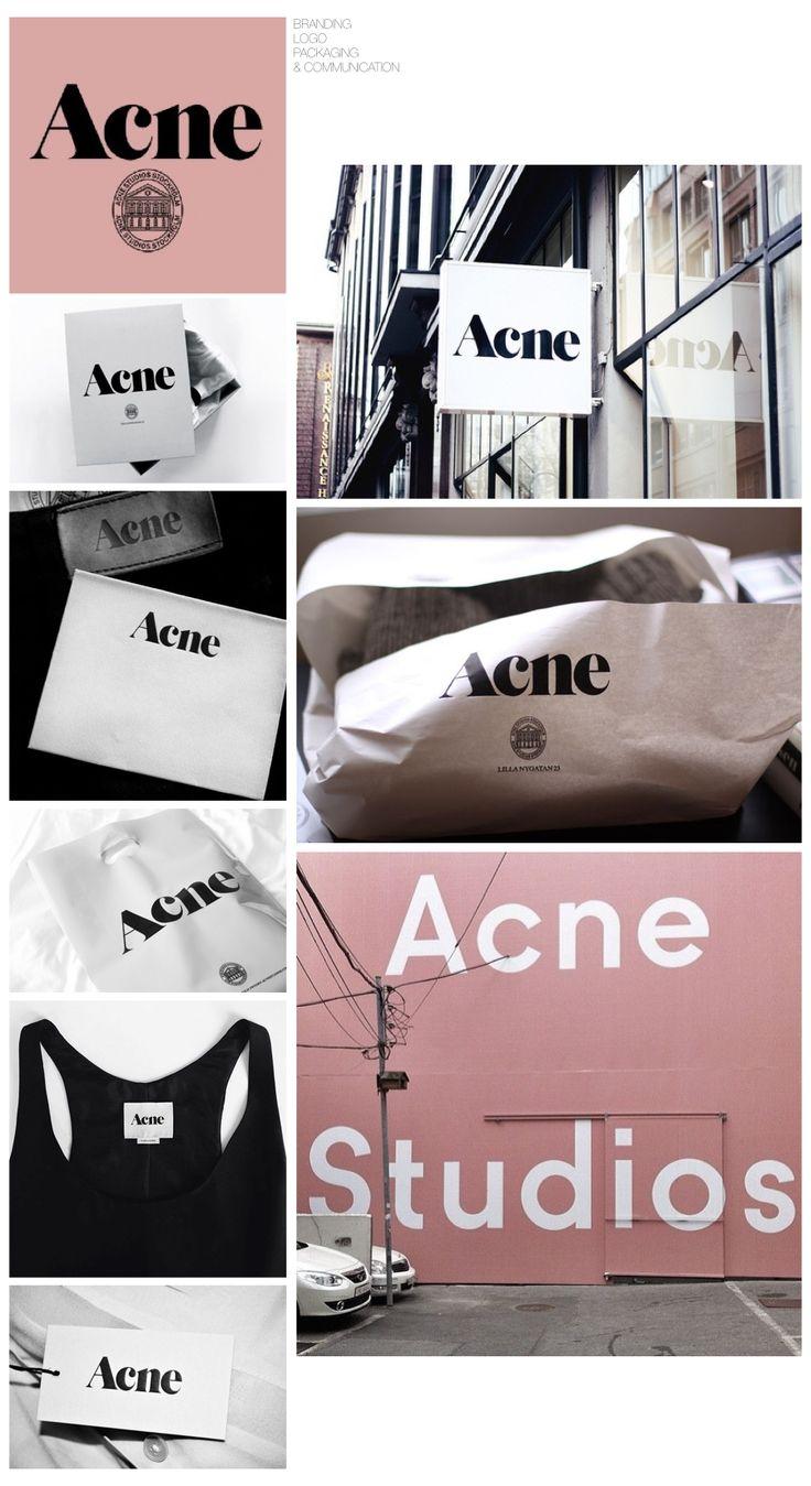Acne Studios - Fashion Designer Branding Packaging Logo Communication Identity - Collaged by Yağmur Kutlu