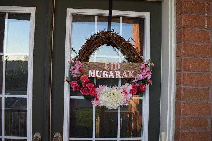 Eid Mubarak Flower Wreath by MaleehasArtsCrafts on Etsy