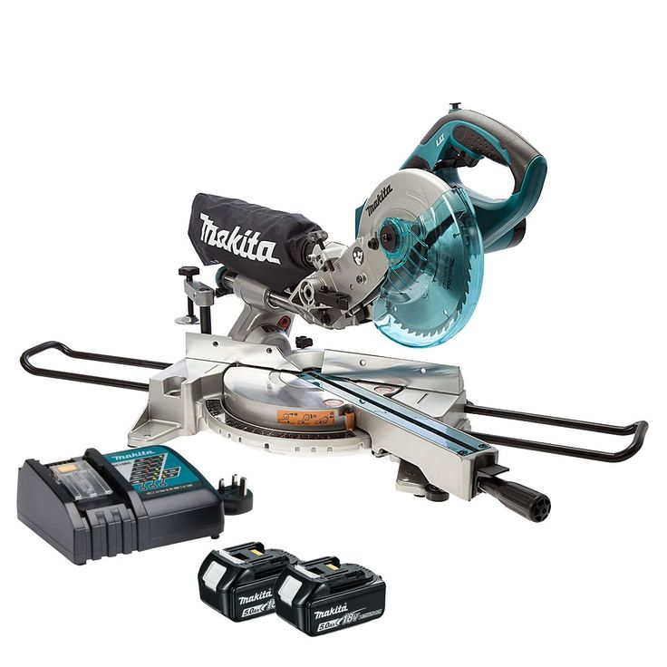 MAKITA DLS713RTE 18V LXT SLIDE COMPOUND MITRE SAW (5AH) is the world's first Lithium-Ion cordless slide mitre saw...2 x 5.0Ah...0088381813600