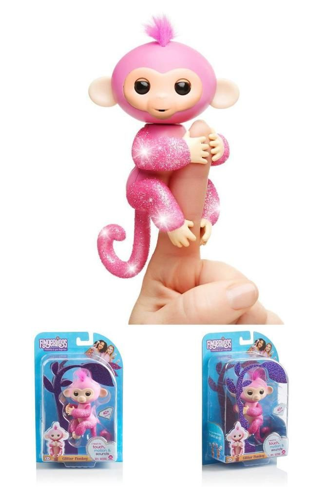 Fingerlings Respond To Sound Motion And Touch With Blinking Eyes Head Turns And Silly Monkey Babble Glitter Gir Toys For Girls Gifts For Kids Baby Glitter