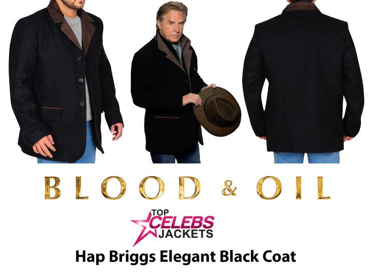 Blood And Oil Series Hap Briggs Elegant Black Coat