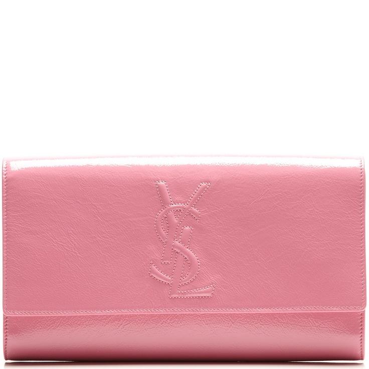 clutch pink YSL | Clutch | Pinterest | Leather Clutch, Clutches ...