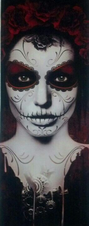Day of the Dead face paint, Dia de los Muertos