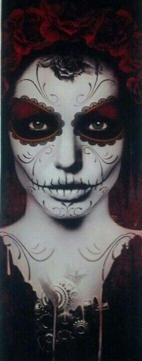 Day of the Dead face paint, Dia de los Muertos