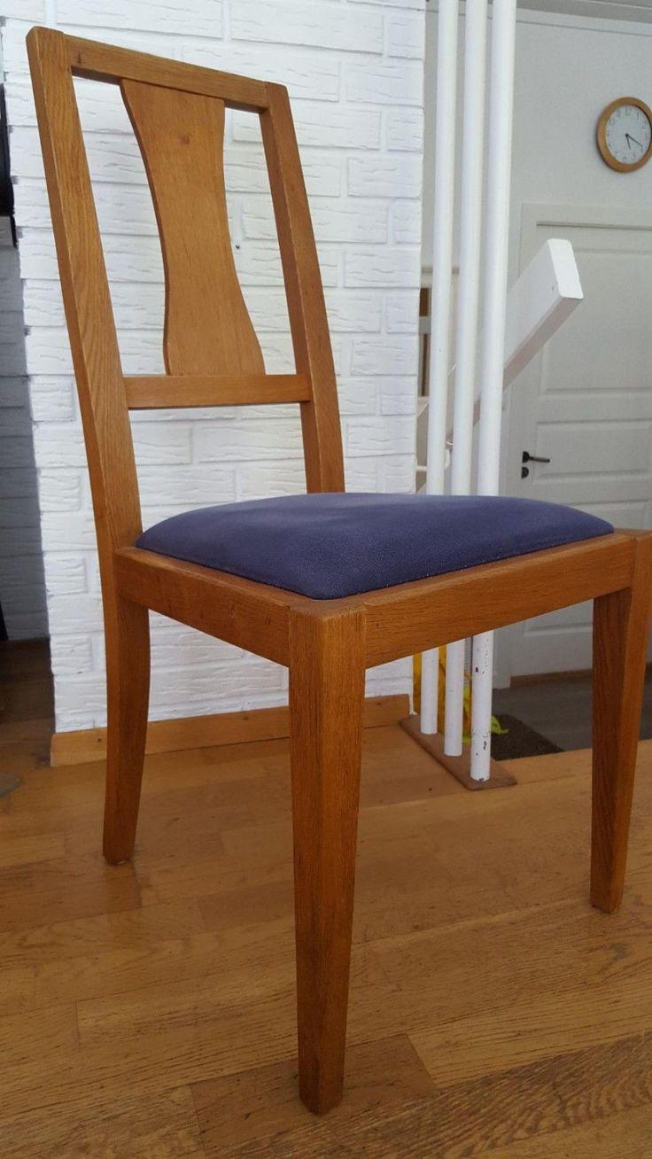FINN – Spisebord og stoler i eik