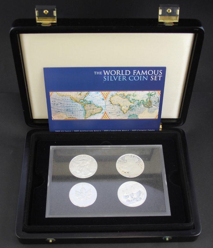 2009 The World Famous Silver Coin Set - Eagle, Koala, Maple & Panda