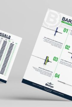 Gym Poster Series - Barbell Best Practices, LB to KG Conversion, 1RM % Calculation - Free downloads or $30 for hard copy.