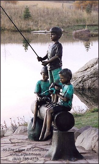 Discovering Nature | Bronze Children Statues & Children Sculptures | Life-Size Statues & Life-Size Sculptures | Works by Local Artists | The Large Art Company