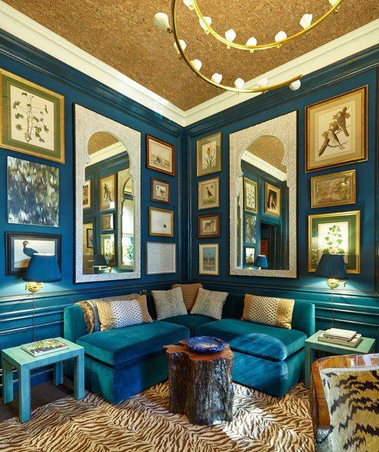 Markham Roberts' study at the Kips Bay Decorator Show House