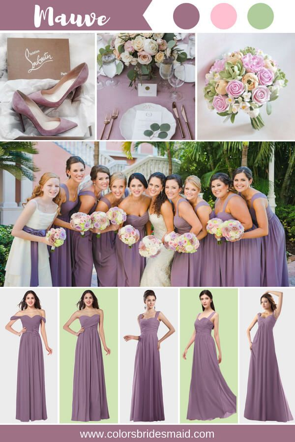 7f3ebafb97 Mauve bridesmaid dresses 500+ styles, $69-99, custom made to all sizes.  Good to match pink and green colors. #colsbm #bridesmaids #weddings  #weddingideas # ...