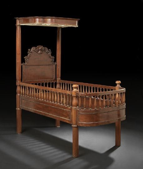 Rare New Orleans Market Mahogany Half-Tester Youth Bed, mid-19th century, - 242 Best Antique Furniture Images On Pinterest Antique Furniture