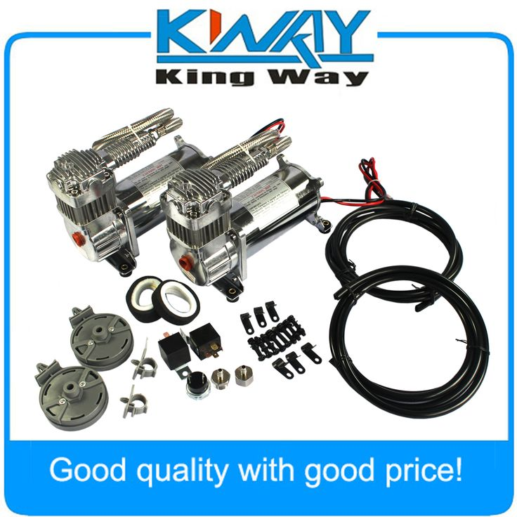 compare prices brand new 12 volt jdmspeed dual chrome 440c 200 psi air compressor kit #air #horn #kit