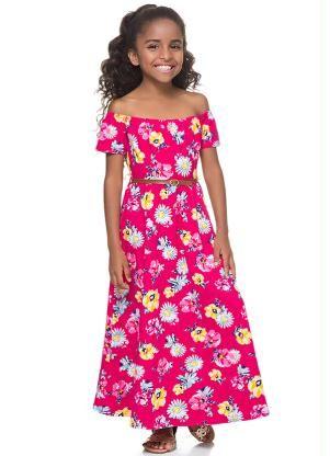 Gostei deste produto do Portal Posthaus! Vestido Longo Infantil Malwee Kids