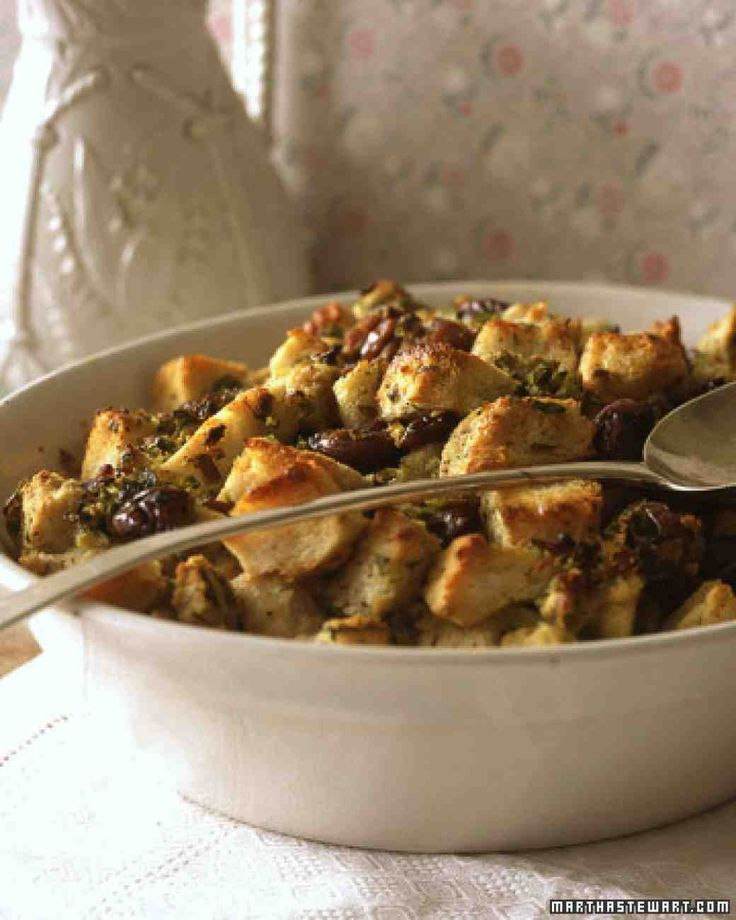 Chestnut Stuffing.. But I use cranberries and thyme instead of chestnuts and sage