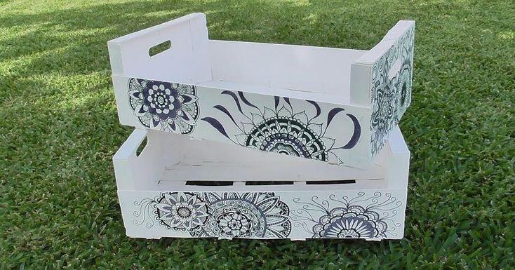 Decora cajas de fruta con una técnica original