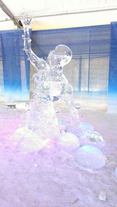 Ice sculpture at Winterlude