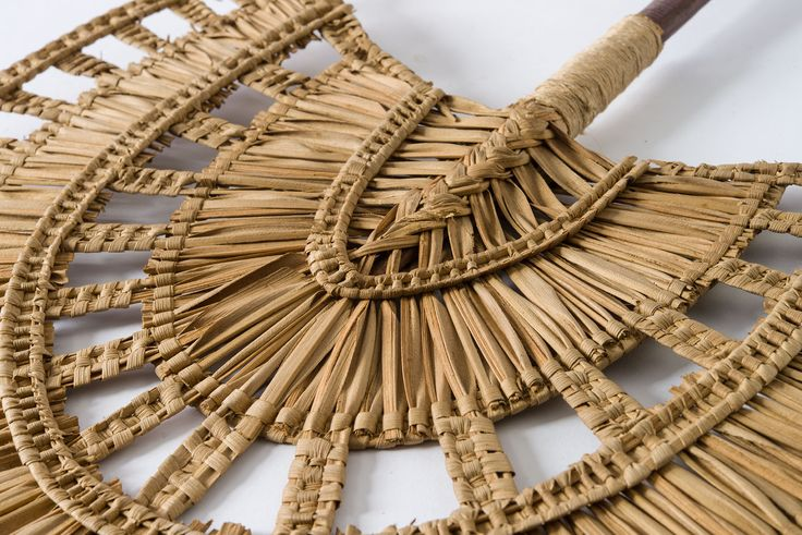 Detail of a Fan from Gaua Island, Solomon Islands. Collected between 1883 -1900.