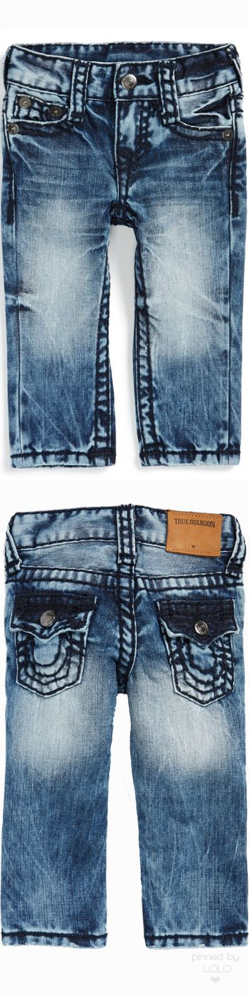 True Religion Brand Jeans 'Geno' Relaxed Slim Fit Jeans (Baby Boys)   LOLO❤
