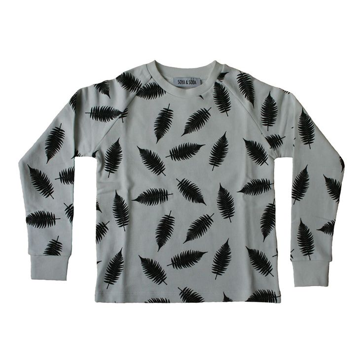 SOYA & SODA sweatshirt med fjer