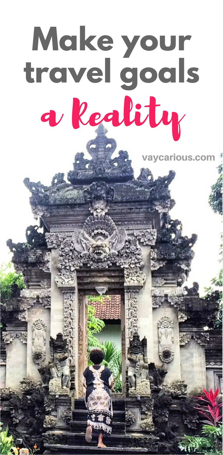Make Your Travel Goals a Rality. You've set your intentions on self care. Now take the steps to achieve that goal through travel. http://vaycarious.com/2017/01/21/goals/  #travel #blacktravel #resolutions #goals